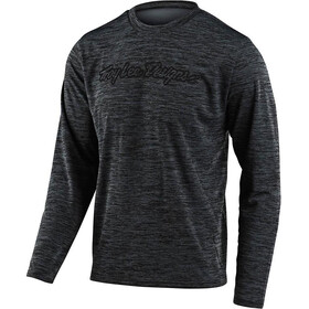 Troy Lee Designs Flowline Langarm Trikot signature heather black/grey